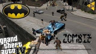 GTA IV Batman Mod + Zombie Apocalypse - Batmobile vs Zombies