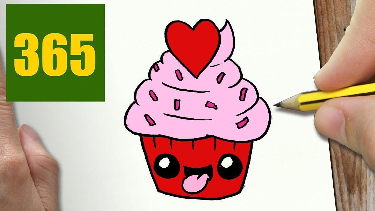 Come Disegnare Cuore Cupcake Kawaii Passo Dopo Passo Disegni