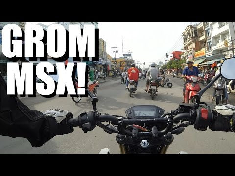 Honda Grom MSX REVIEW and RIDE - The BEST BIKE FOR ASIA?