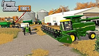 1980'S IOWA FALL HARVEST! JD 8820 COMBINE, 4955 & MORE (ROLEPLAY)