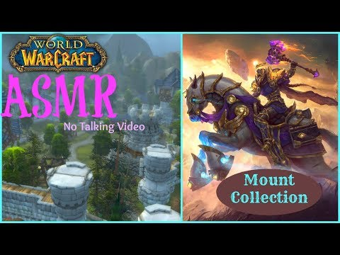 ASMR | World of Warcraft Mount Collection | No Talking - All Keyboard/Mouse Sounds