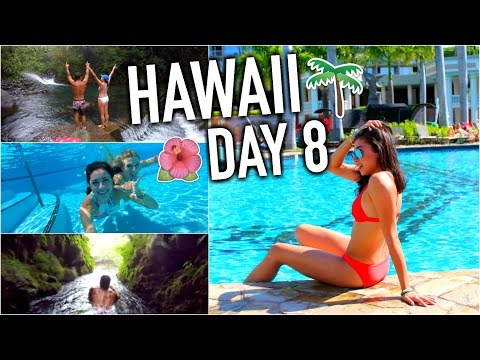 HAWAII - Amazing Secret Waterfall & Traveling Home! Day 8!