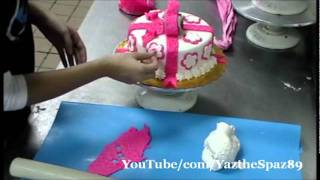 Decorating a Fondant Cake for a Girl & Boy :)