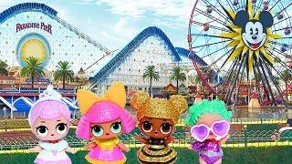 Bonecas LOL Surpresa Novo Quarto do Glitterati Club e Viagem Para a Disney -Brinquedonovelinhas