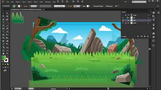Clipping mask tutorial in Adobe illustrator CC - Mobile Game Backgrounds