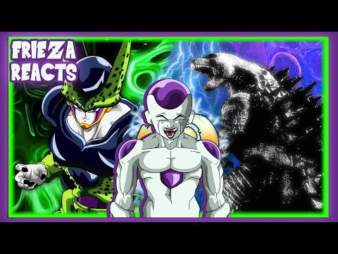 FRIEZA REACTS TO PERFECT CELL VS GODZILLA!