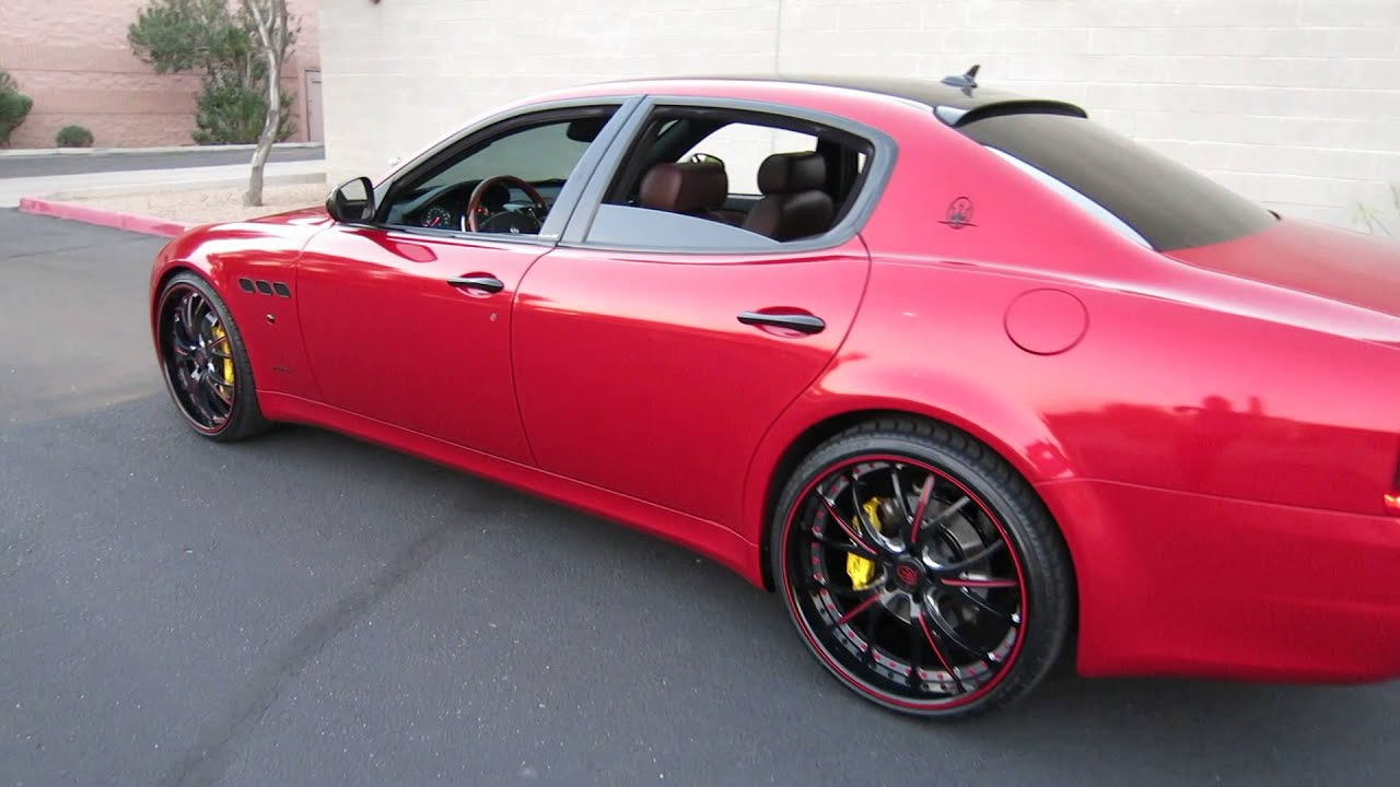 2009 maserati quattroporte s 47 executive gt custom red wrap 2009 maserati quattroporte s 47 executive gt custom red wrap exhaust 22inch whls for sale youtube sciox Choice Image