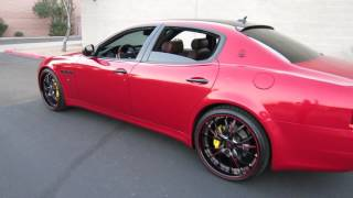 2009 maserati quattroporte s 4 7 executive gt custom red wrap exhaust 22inch whls for sale