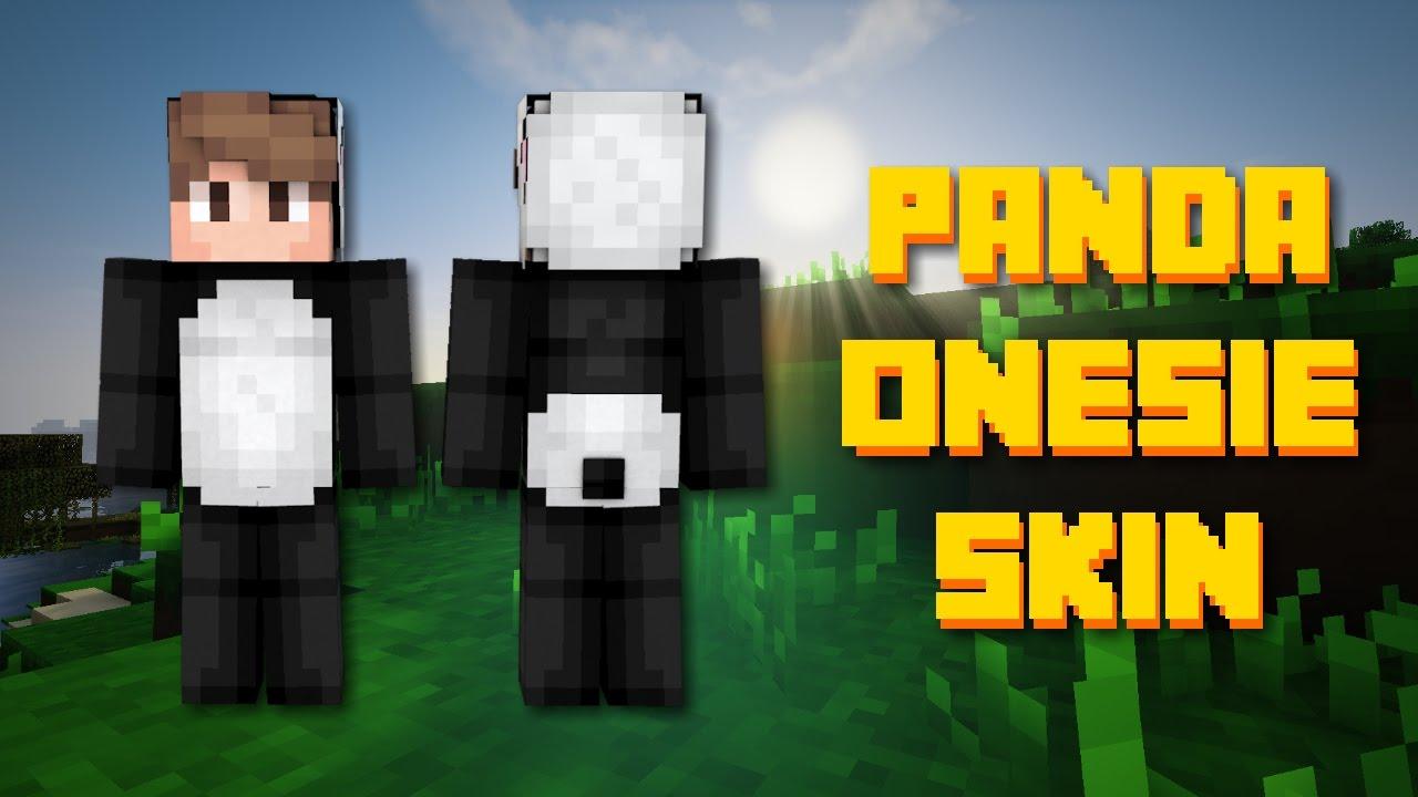 panda onesie minecraft skin speed paint youtube