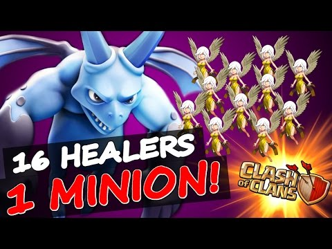Clash Of Clans | 1 MINION + ALL HEALERS!!! | INSANE GAMEPLAY & FUNNY MOMENTS!