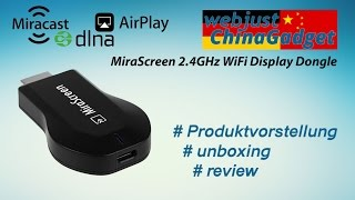 MiraScreen 2.4GHz WiFi Display Dongle [ unboxing - review - german/deutsch ]