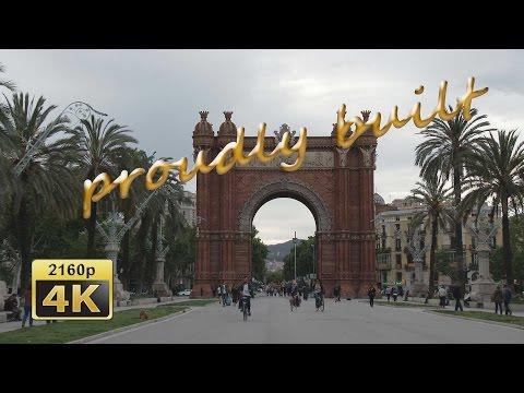 Barcelona, from Plaça de les Glòries Catalane to Ciutadella Park  - Spain 4K Travel Channel