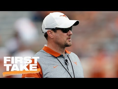 Texas Coach Tom Herman Explains Why He's Proud To Kiss His Players | First Take | ESPN