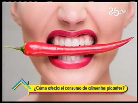 ¿Cómo afecta el consumo de alimentos picantes?