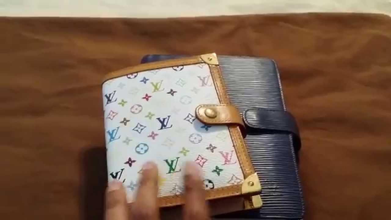 a1607558b228 Louis Vuitton Agenda PM Multicolor Wallet Setup - YouTube