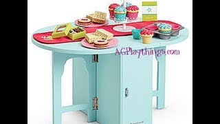 American Girl Doll Review: Baking Table And Treats ~2010~