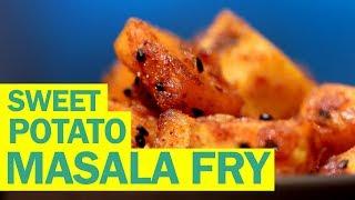 Sweet Potato Masala Fry   Shakarkandi Fry   शकरकंदी मसाला फ्राई   Quick Recipes   Food Tak