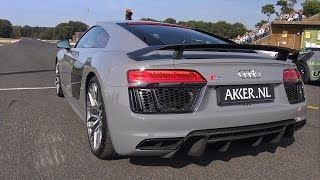 Nardo Grey Audi R8 V10 Plus PURE Exhaust Notes!