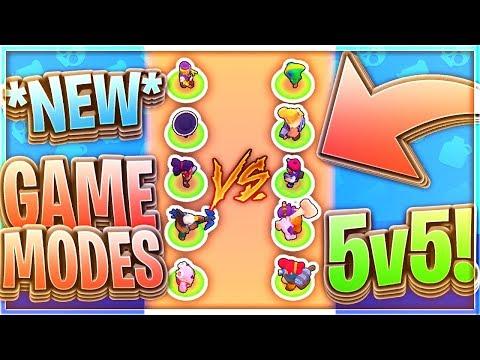Brawl Stars - NEW GAME MODES 5v5, Tag Team, Trio Showdown [Concepts]