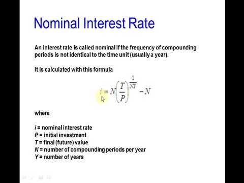 Nominal and Effective Interest Rates in Matlab - YouTube