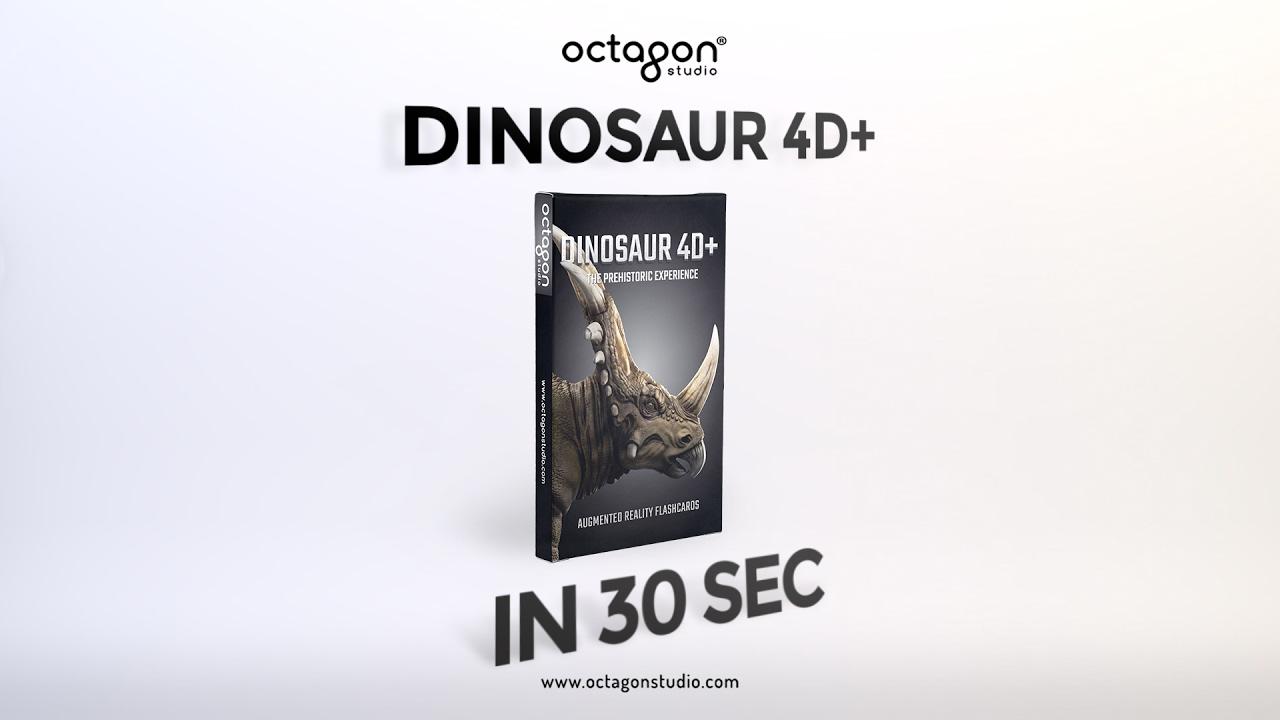 Augmented Reality Flashcards Dinosaur 4D+ in 30 Sec | Octagon Studio