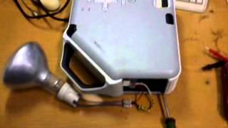 Проверка проектора HP vp6311 обычной лампой(Лампа накаливания 150W., 2013-09-02T04:48:02.000Z)