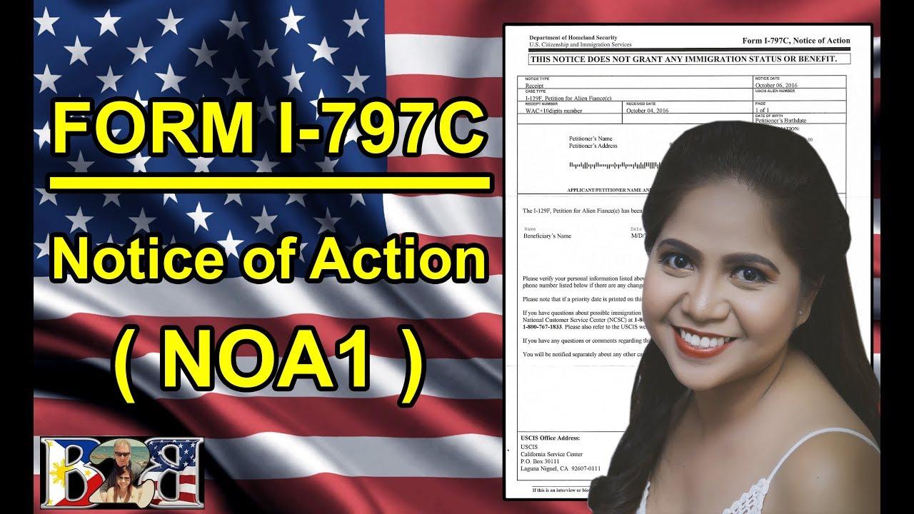 K1 Visa Form I 797c Reciept Notice Noa1 1st Letter From Uscis