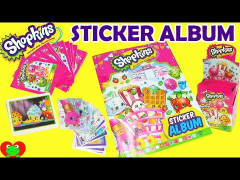 Shopkins Sticker Album with Collectible Stickers