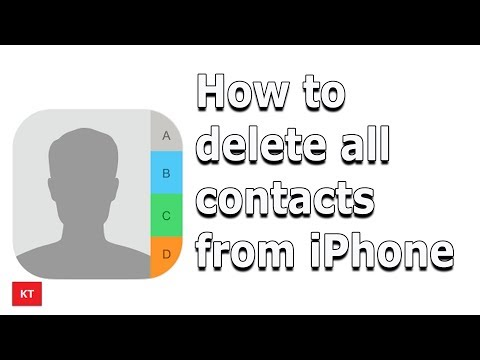 How to delete multiple contacts at once || iphone 2020.