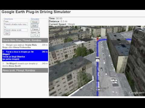 Google Earth Plug In Driving Simulator Youtube