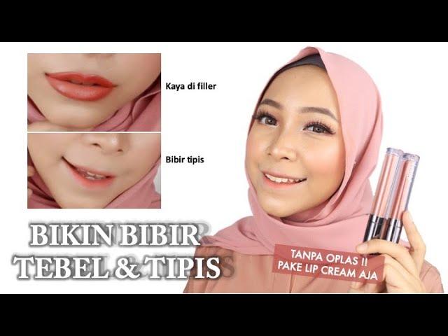 Tips Bikin Bibir Filler Tanpa Oplas Menipiskan Bibir Yang Tebal Pakai Lip Cream Aja Youtube