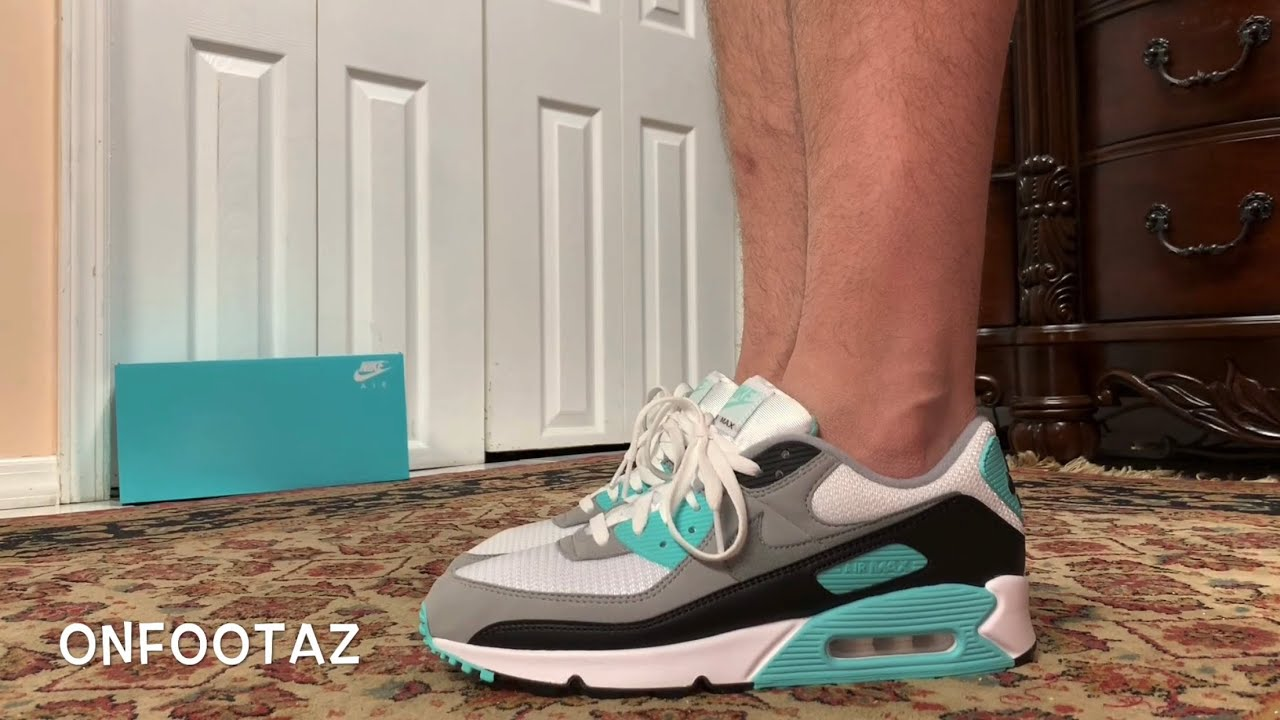 Nike Air Max 90 Hyper Turquoise 2020 On Foot