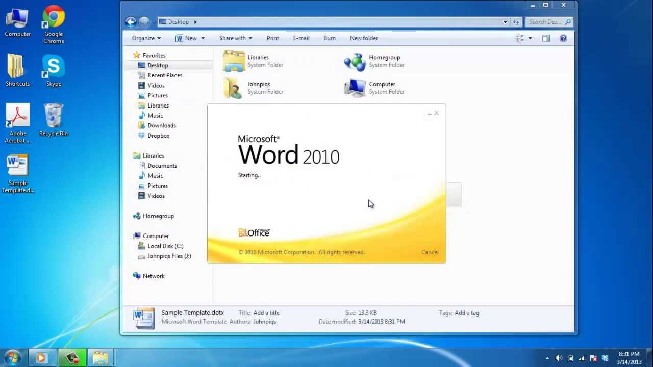 How to Make a Template in Word - YouTube