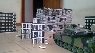 RC Tank Battle, RC Tank War in the city of Domino