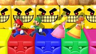 Mario Party 10 MiniGames - Mario Vs Peach Vs Luigi Vs Donkey Kong (Master Cpu)