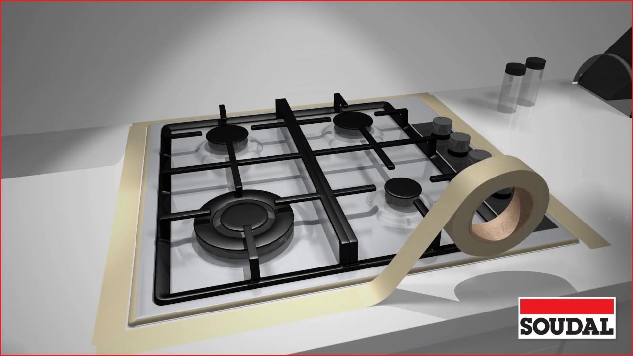 appliquer un silicone dans une cuisine youtube. Black Bedroom Furniture Sets. Home Design Ideas