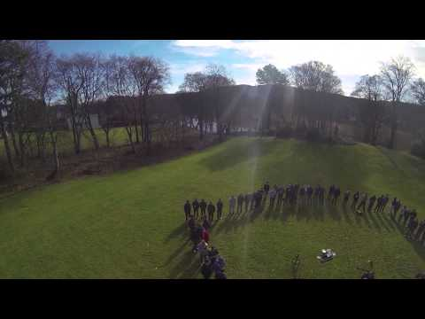 Quadcopters Flying around the Garthdee Campus - CM1013 Graphics Class