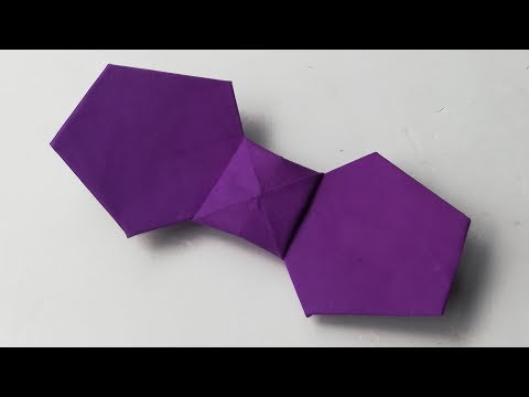 Paper folding arts (origami) how to make paper bow tie #paperartsandcraft