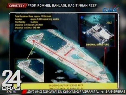 24 Oras: China, naglagay na umano ng monumento sa Kagitingan Reef