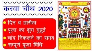 Karwa Chauth 2020 Date Time : करवा चौथ 2020 कब है, चंद्रोदय का समय, पूजा का शुभ मुहूर्त, पूजा विधि