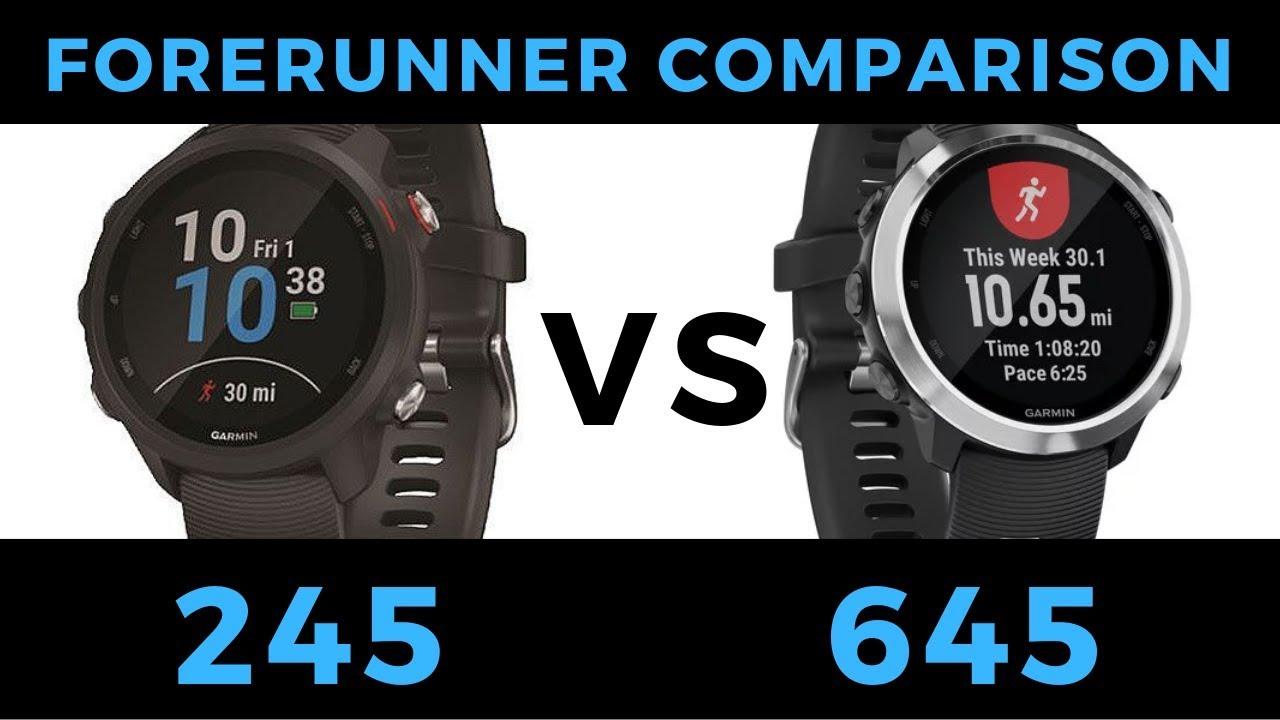 Forerunner 245 VS Forerunner 645 - Garmin Smartwatch Feature