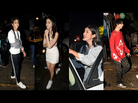 Ananya Panday parties hard with Aryan Khan, Ahaan Panday, Shanaya Kapoor Mp3