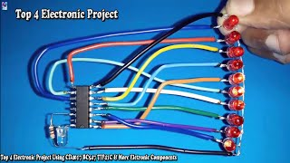 Top 4 Electronic Project Using CD4017 BC547 TIP41C & More Eletronic Components