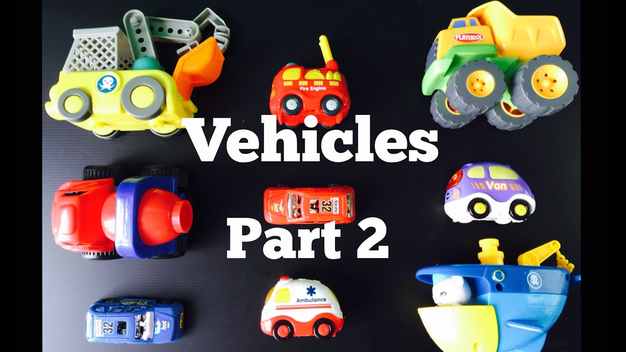 Toy Vehicle Learning Learn Different Types of Street Vehicles Names And Sounds For Kids Vtech