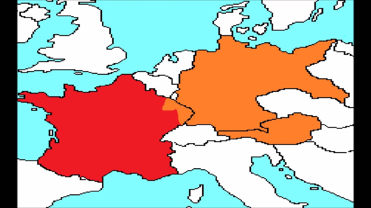 War Simulation France Vs Germany YouTube - Map of germany and france