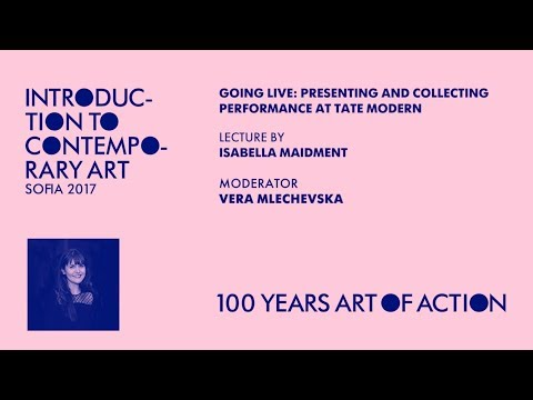 Lecture by Isabella Maidment. Performance at Tate Modern