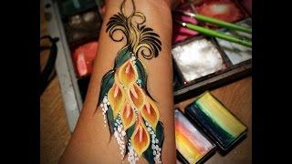 Calla Lily face painting Thumbnail