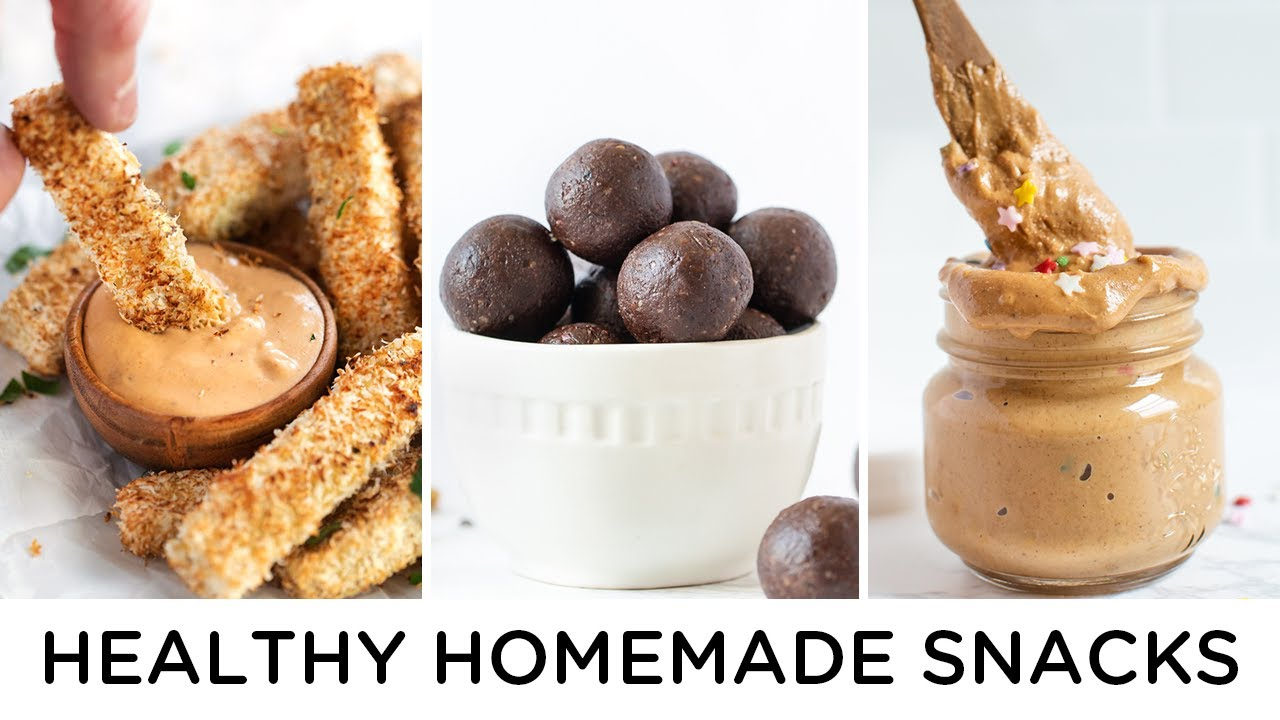 EASY VEGAN SNACK IDEAS ‣‣ healthy snacks to make at home