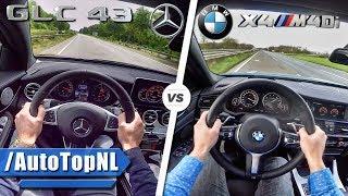 Mercedes AMG GLC 43 vs BMW X4 M40i SOUND ACCELERATION TOP SPEED & AUTOBAHN POV by AutoTopNL