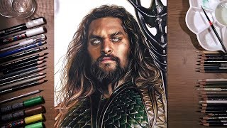 Justice League : Aquaman - speed drawing | drawholic